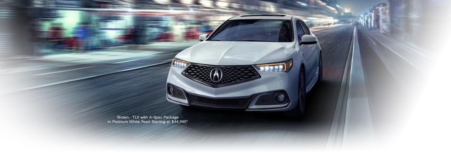 Shown: TLX with A-Spec Packages in Platinum white Pearl