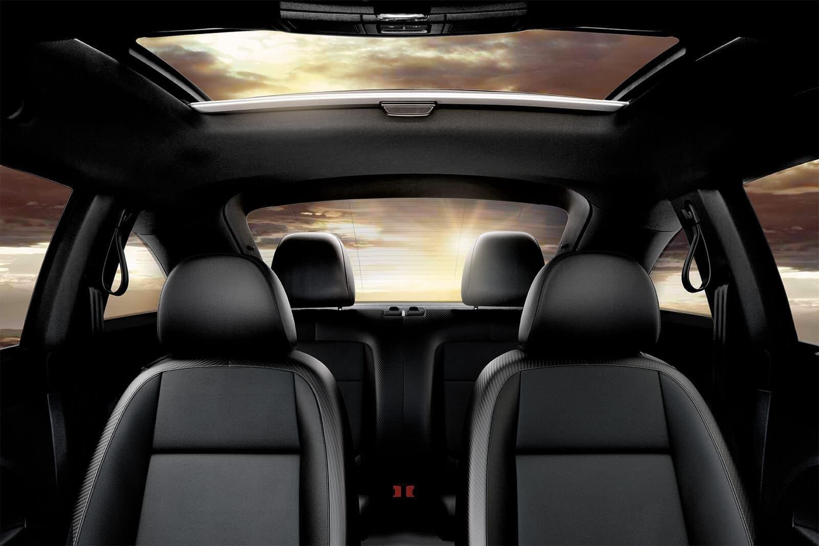 2019 Volkswagen Beetle interior in black leatherette