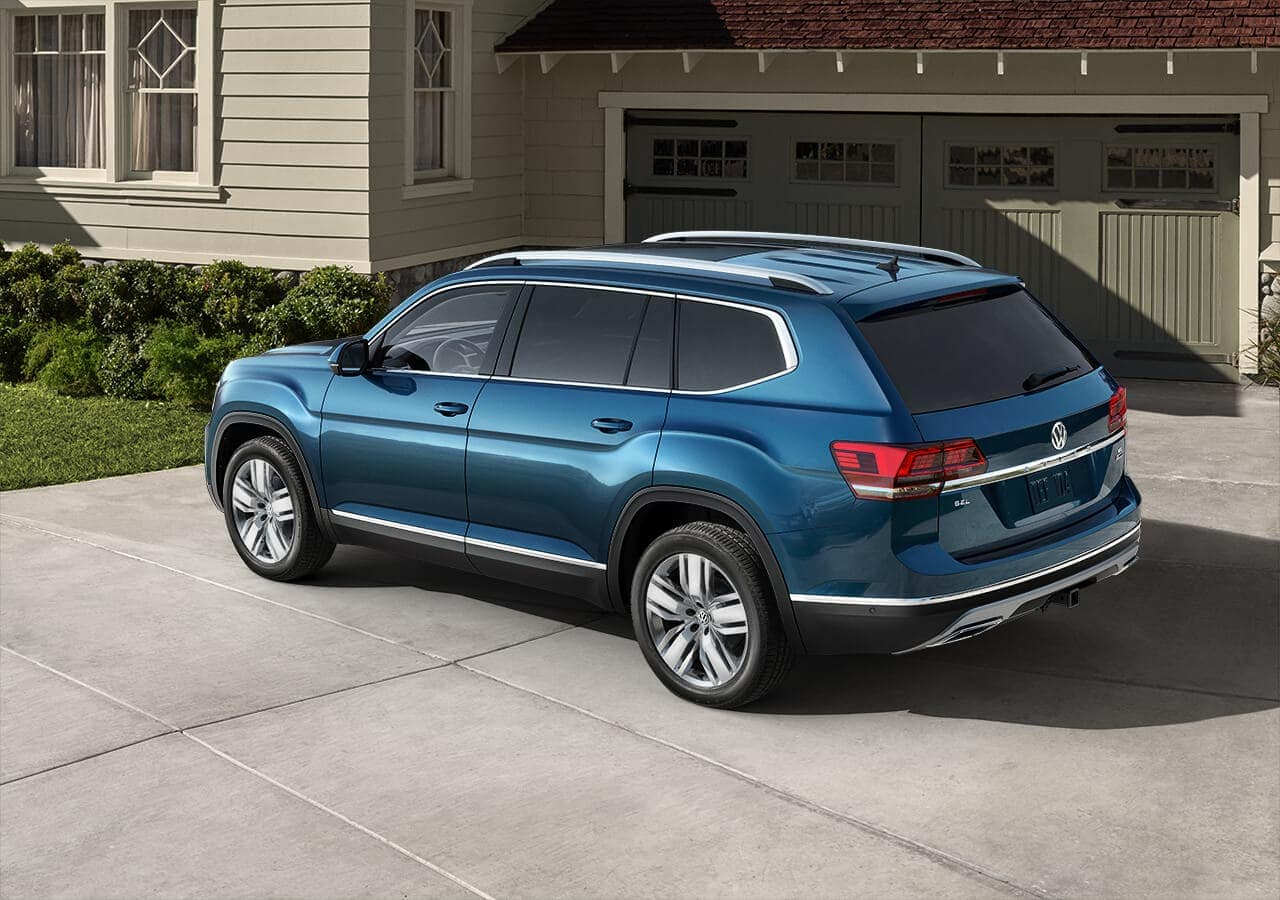 2019 VW Atlas exterior parked in blue