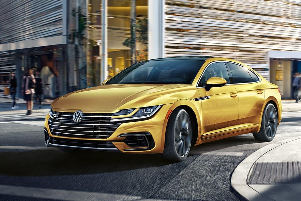 2019 Volkswagen Arteon sedan in yellow metallic