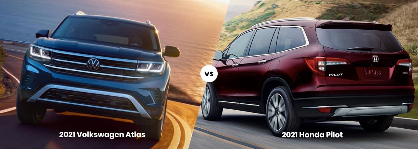 2021 VW Atlas vs. Honda Pilot