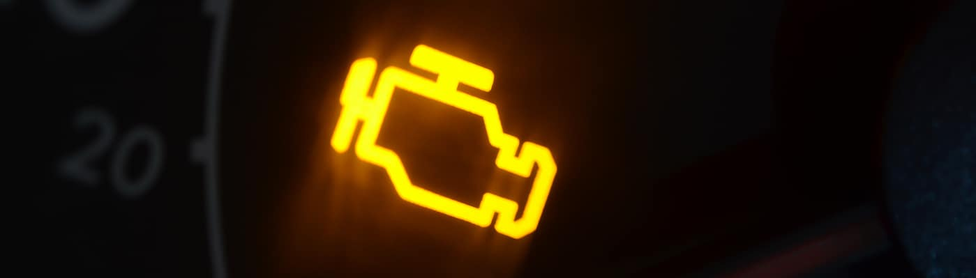 Illuminated check engine light
