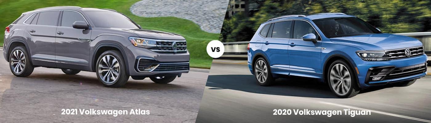 2021 Volkswagen Atlas vs. 2020 Volkswagen Tiguan