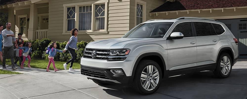 2018 Volkswagen Atlas in driveway