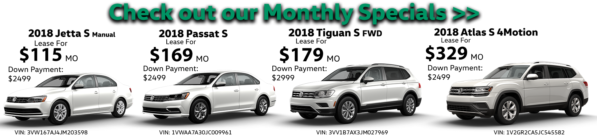 Volkswagen May 2018 monthly special bannerPNG