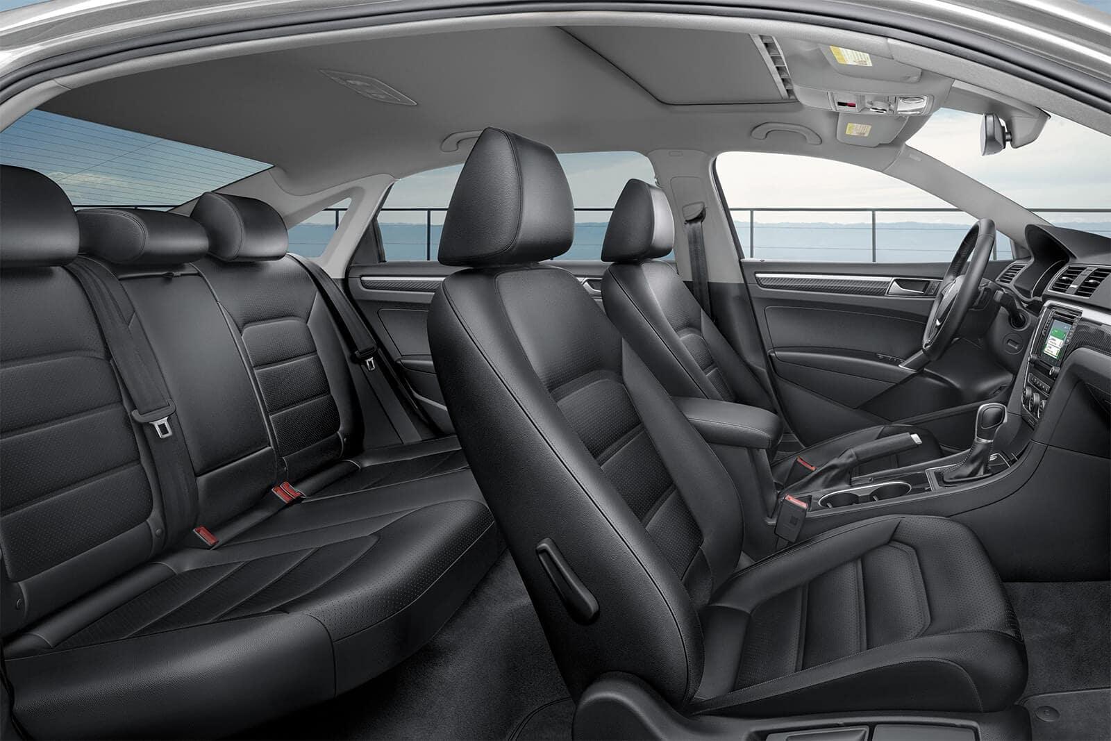 2019 Volkswagen Passat interior in titan black leatherette