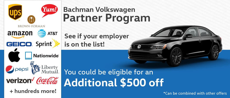 Vw Owned Brands >> Employer Discount | Bachman Volkswagen