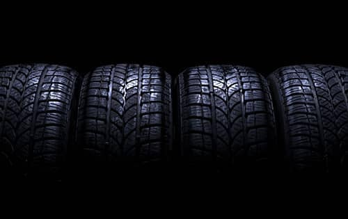 row of car tires