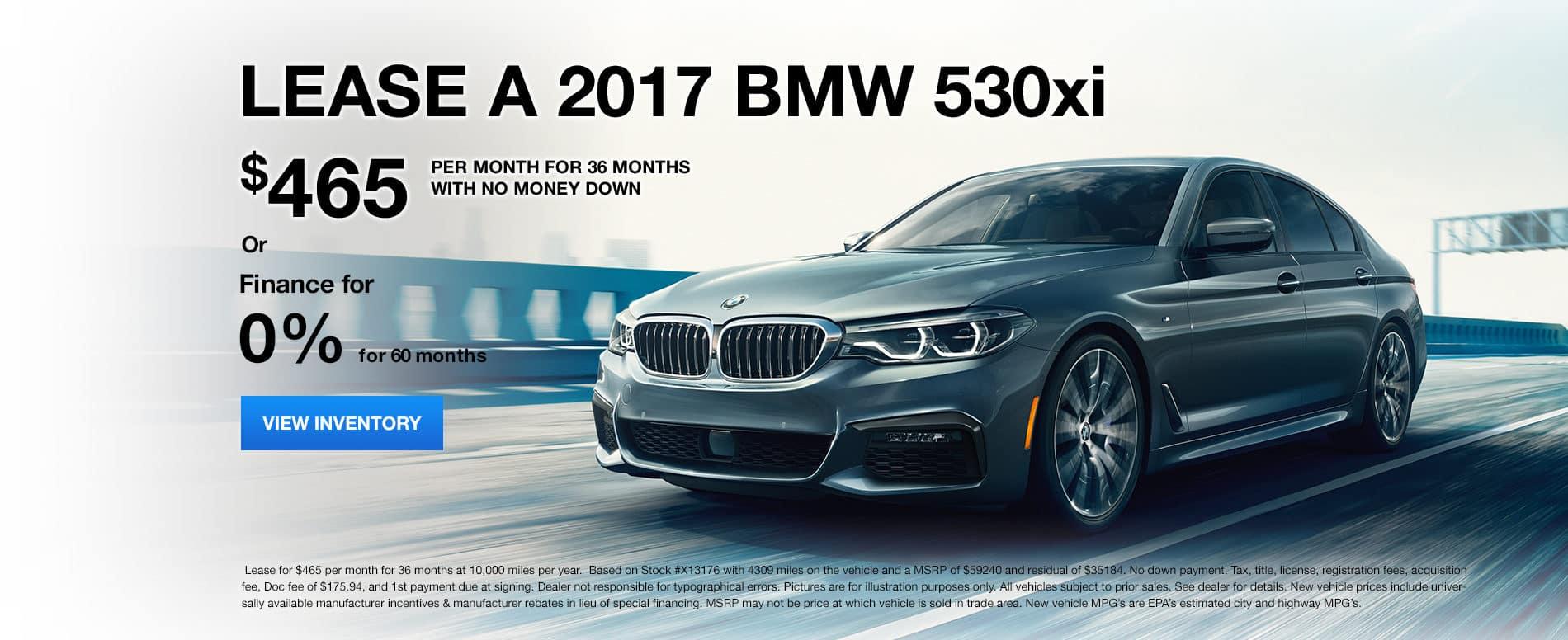 530xi January Offer Bill Jacobs BMW