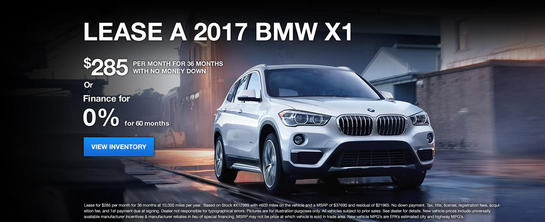 X1 January Offer Bill Jacobs BMW