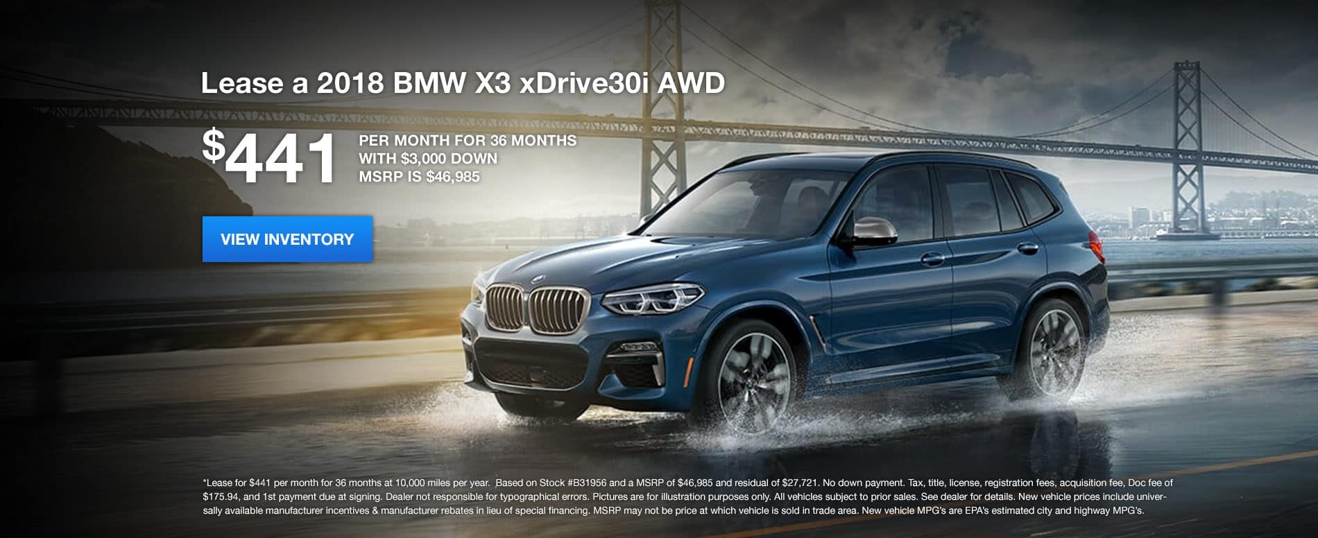 X3 January Offer Bill Jacobs BMW