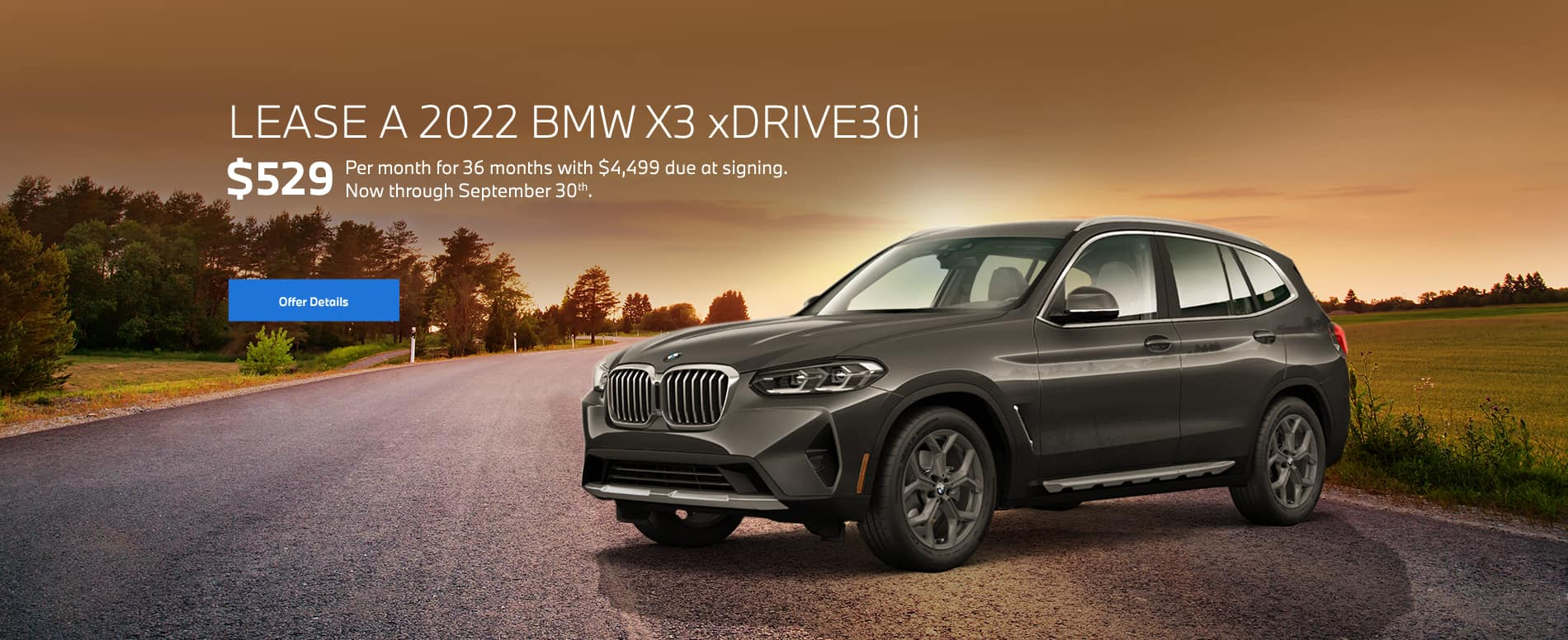 X3 Lease Special