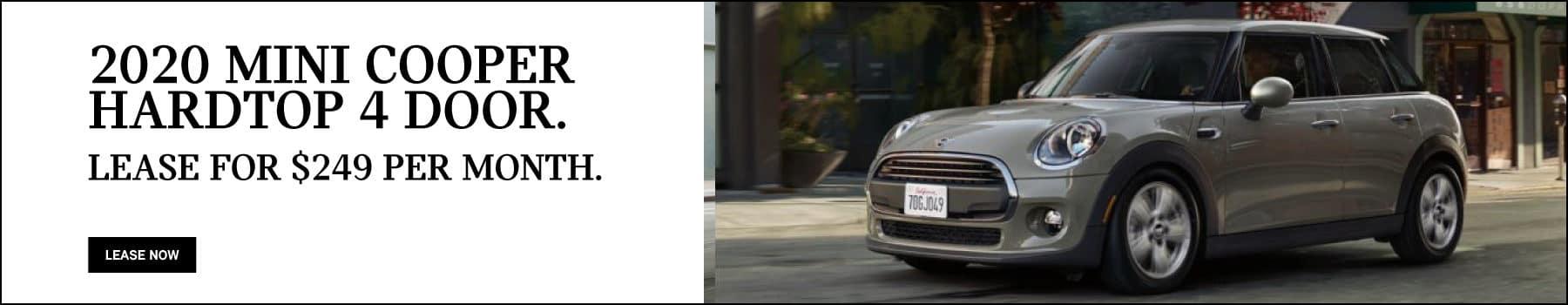 2020 MINI Cooper Hardtop 4 Door Lease: $249/MO for 36 months