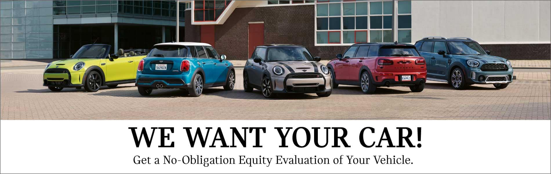 We want to buy your car! Get a no-obligation equity evaluation of your vehicle.