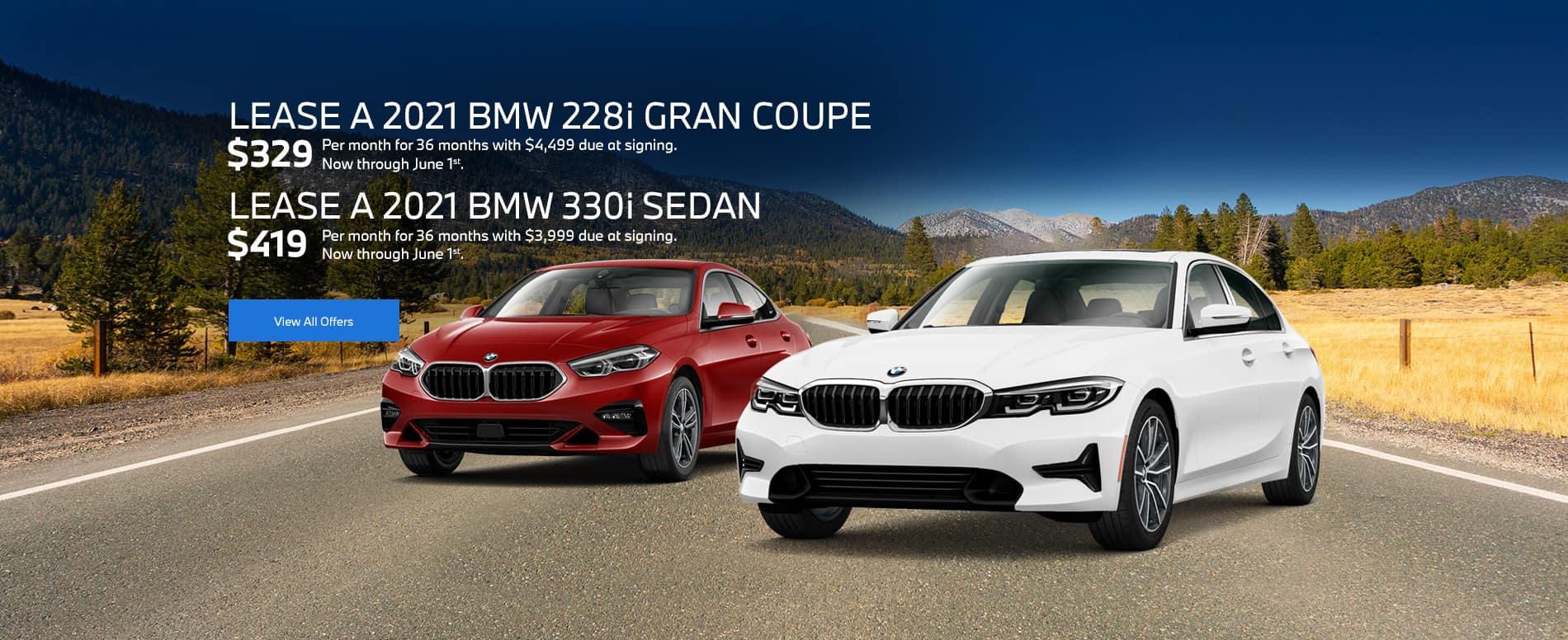 2021 BMW 228i and 2021 BMW 330i