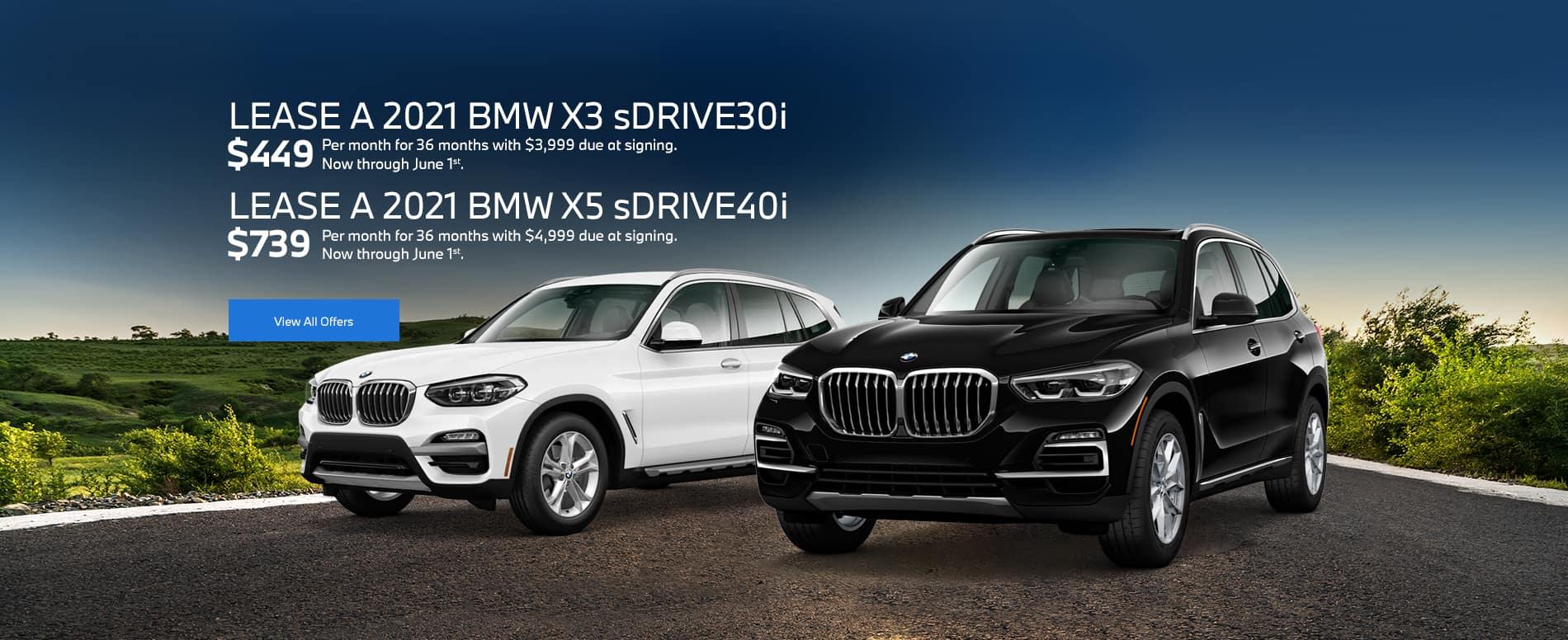 2021 BMW X3 and 2021 X5 BMW