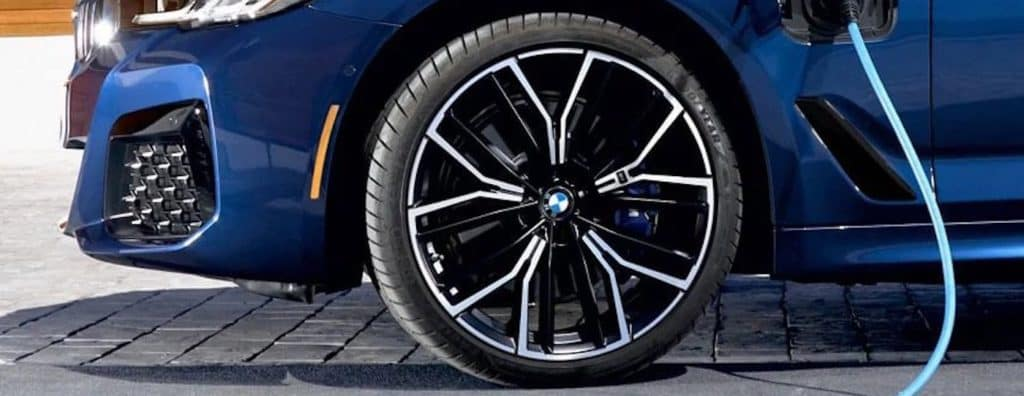 Close up of a BMW tire