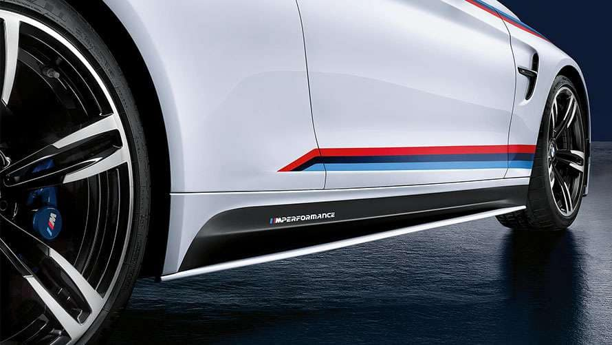 BMW M Performance skirt extension