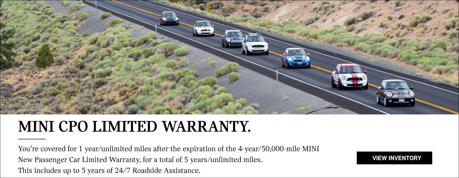 MINI CPO Limited Warranty.  View Inventory