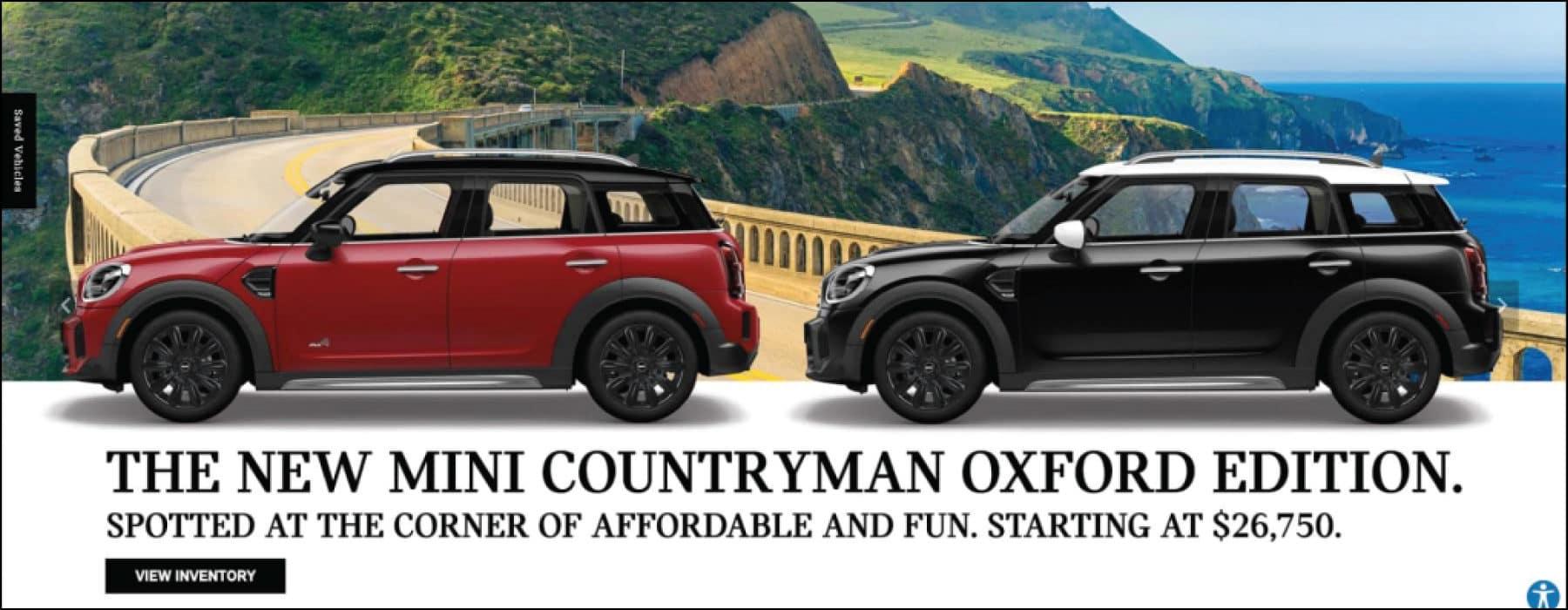 The new MINI Countryman Oxford Edition