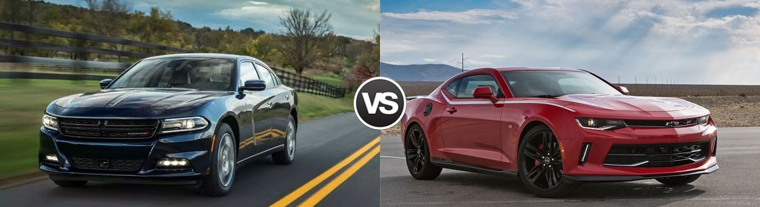 2017 Dodge Charger vs 2017 Chevrolet Camaro