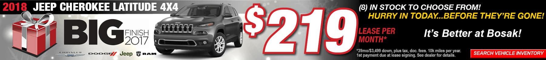 Cherokee Latitude December Offer Bosak Motors