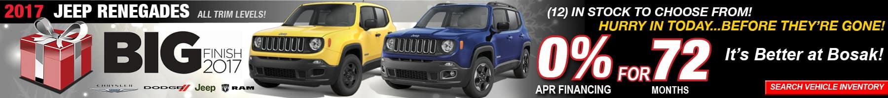 Renegade December Offer Bosak Motors