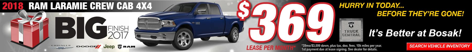 Ram Laramie December Offer Bosak Motors