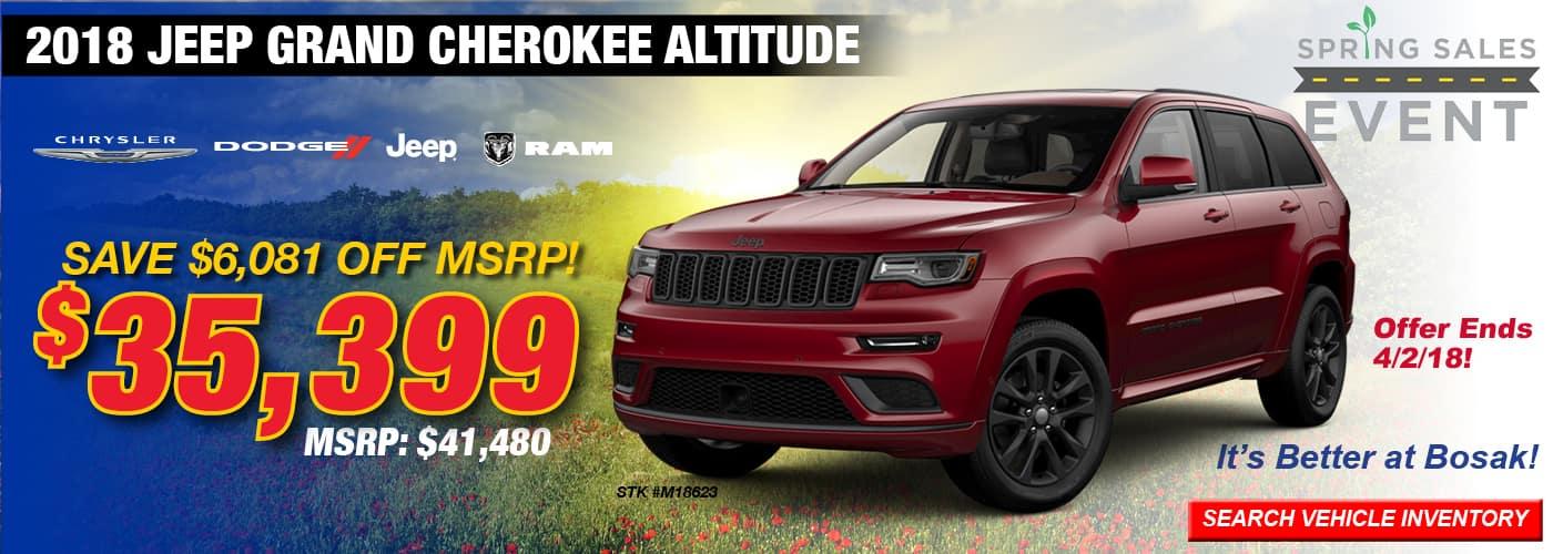 2018 Grand Cherokee Altitude Offer