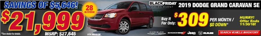 grand caravan black friday