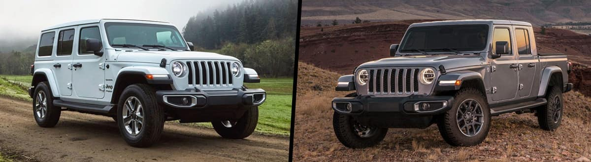2020 Jeep Wrangler vs 2020 Jeep Gladiator