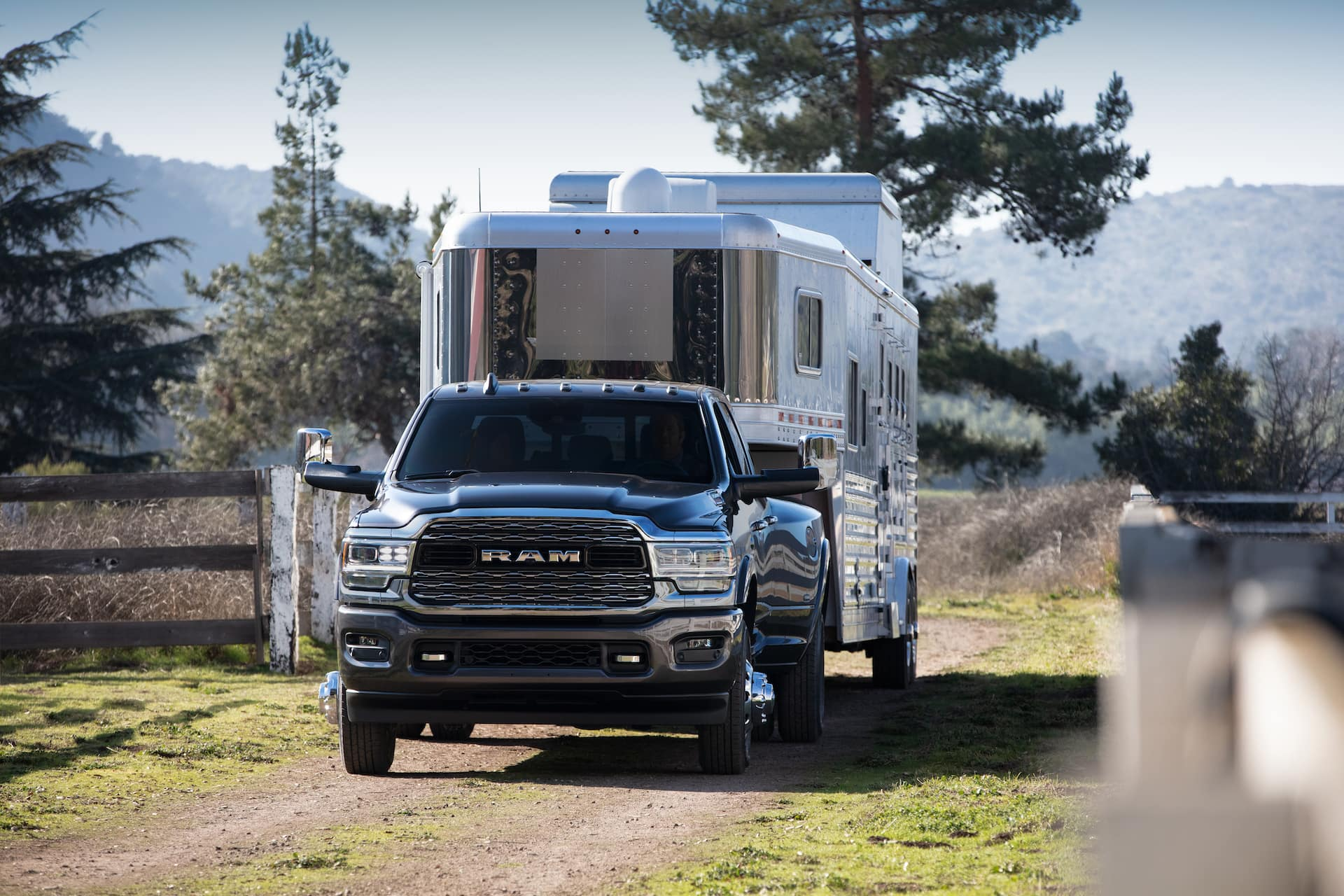 ram truck towing trailer