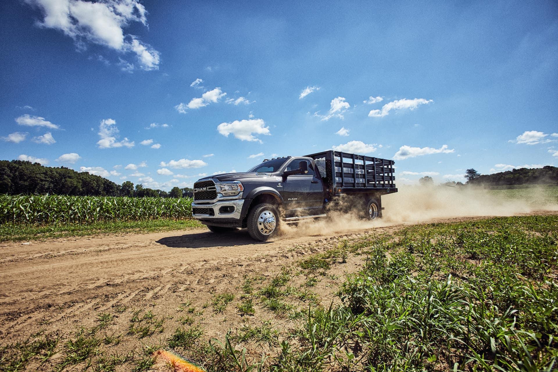 ram truck in field