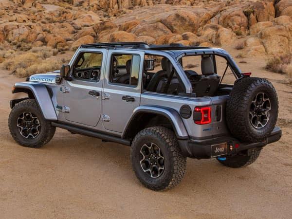 2021 Jeep Wrangler 4xe Plug-In Hybrid Rear Angle