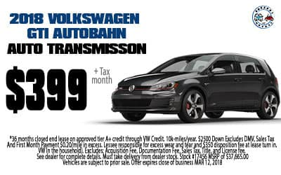 Lease a 2018 Golf GTI Autobahn Automatic