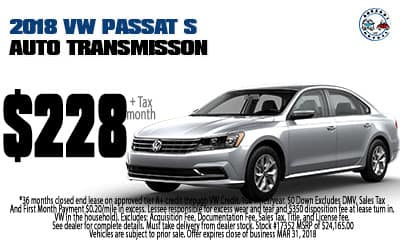 Lease a 2018 Passat S Automatic