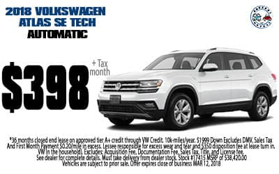 2018 Volkswagen Atlas SE TECH