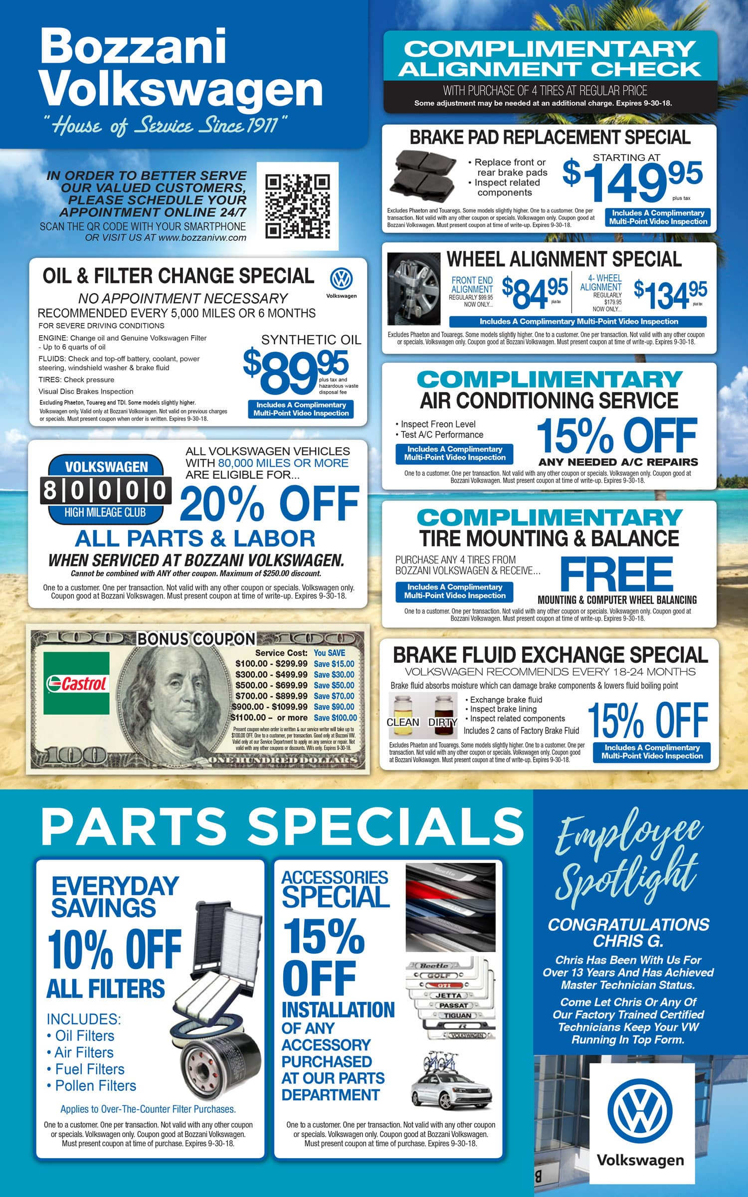 Bozzani VW Service Coupons