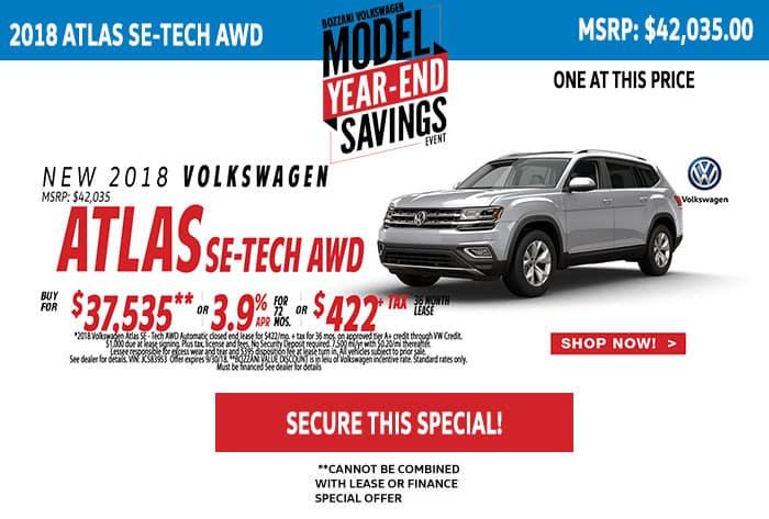 2018 Volkswagen Atlas SE-TECH AWD