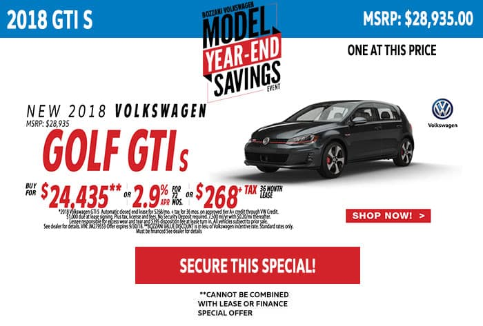 Lease a 2018 Golf GTI 2.0T S