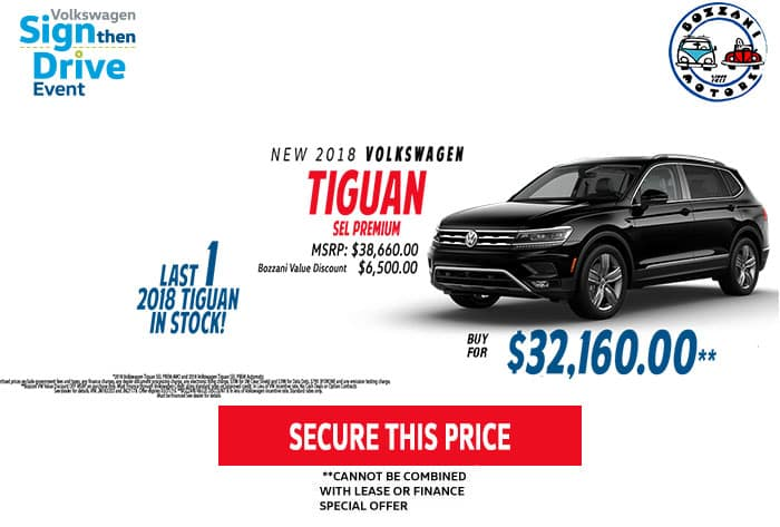 UP TO $6500 OFF MSRP LAST ONE  2018 TIGUAN