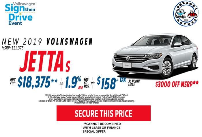 Lease a 2019 Jetta S