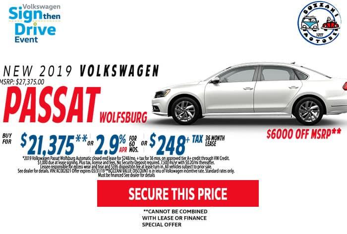 Lease a 2019 Passat Wolfsburg
