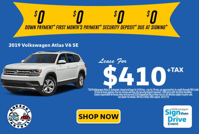 2019 Volkswagen Atlas SE 4MO SIGNTHENDRIVE SALES EVENT