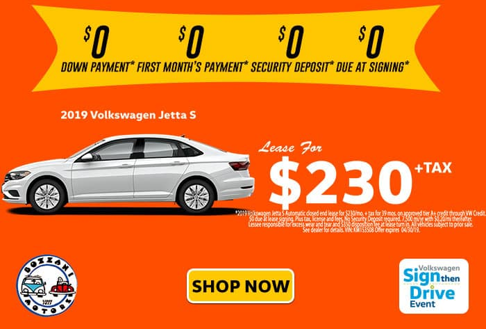Lease a 2019 Jetta S -  SIGNTHENDRIVE SALES EVENT