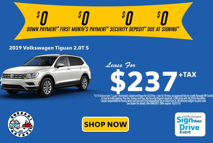 2019 Volkswagen Tiguan S SIGNTHENDRIVE SALES EVENT