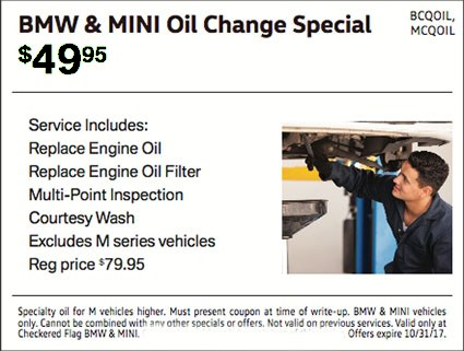 BMW & MINI Oil Change Special $49.95