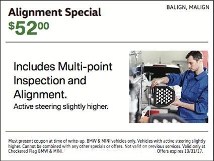 MINI Alignment Special $52.00