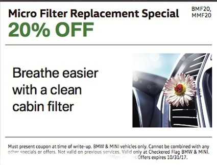 Micro Filter Replacement Special