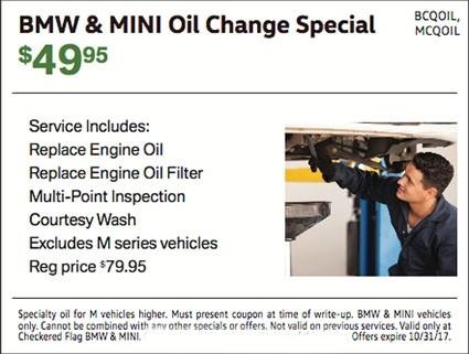 MINI Oil Change Special $49.95